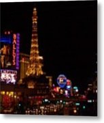 The Strip At Night 1 Metal Print