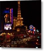 The Strip At Night 2 Metal Print