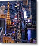 the Strip at night, Las Vegas Metal Print