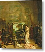 The Studio Of The Painter, A Real Allegory Metal Print
