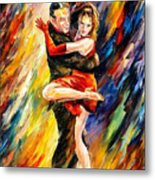 The Sublime Tango - Palette Knife Oil Painting On Canvas By Leonid Afremov Metal Print
