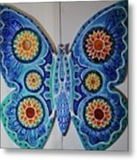 The Summer Butterfly Metal Print