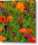 The Summer Flower Party Metal Print