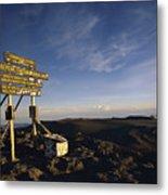 The Summit Of Mt. Kilimanjaro, Africas Metal Print