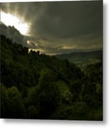 The Sun Above The Forest Metal Print