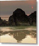 The Sun And Rocks Metal Print