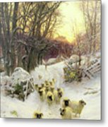 The Sun Had Closed The Winter's Day  Metal Print