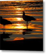 The Sun Has Nearly Set Metal Print