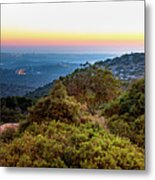 The Sun Of The Evening Of The Mountain And Sea Metal Print