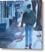 The Sun Peeks Out At 2nd Street Metal Print