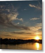 The Sun Sets In Milford Metal Print