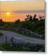 The Sun Sets On Block Island Metal Print