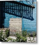 The Sun Sits Heavy On The Stairs Metal Print