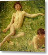 The Sunbathers Metal Print