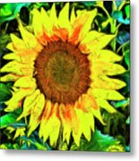 The Sunflower Metal Print