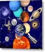 The Sunflower Solar System Metal Print