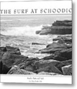 The Surf At Schoodic Metal Print