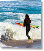 The Surf Is Up Metal Print