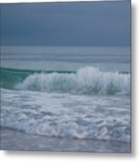 The Surf Rolls In At Holmes Beach Metal Print