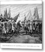 The Surrender Of Cornwallis At Yorktown Metal Print