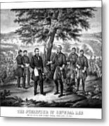 The Surrender Of General Lee  Metal Print