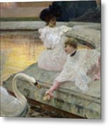 The Swans Metal Print by Joseph Marius Avy