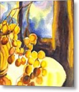 The Sweeter The Grapes Metal Print