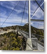 The Swinging Bridge Of Grandfather Mountain Metal Print