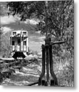 The Switch And The Caboose Metal Print