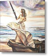 The Sword And The Bride Metal Print