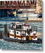 The Tanner On The Icy River Metal Print