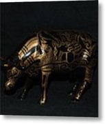 The Tattooed Cow Metal Print