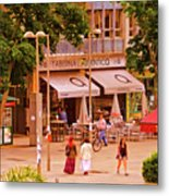 The Tavern On The Plaza - Spain Metal Print