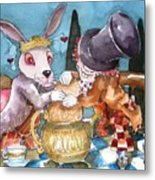 The Tea Party Metal Print