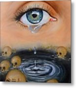 The Tear Metal Print