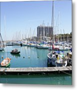 The Tel Aviv Marina  Metal Print