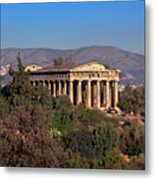 The Temple Of Hephaestus In The Morning, Athens, Greece Metal Print
