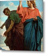 The Temptation Of Christ By The Devil Metal Print