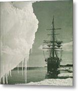 The Terra Nova At The Ice Foot Cape Evans Metal Print
