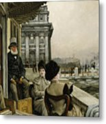 The Terrace Of The Trafalgar Tavern Greenwich Metal Print