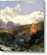 The Teton Range, 1897 Metal Print