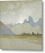 The Tetons, Idaho, 1879 Metal Print