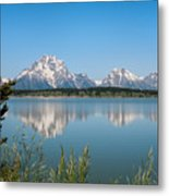 The Tetons On Jackson Lake - Grand Teton National Park Wyoming Metal Print