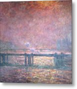 The Thames At Charing Cross Metal Print