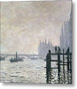 The Thames Below Westminster Metal Print by Claude Monet