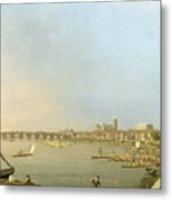 The Thames From The Terrace Of Somerset House Metal Print