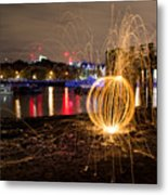 The Thames Orb Metal Print