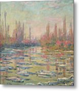 The Thaw On The Seine Metal Print