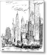 The Thing I Like About New York Metal Print
