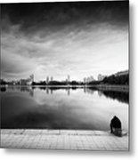 The Thinker And The Lake Metal Print